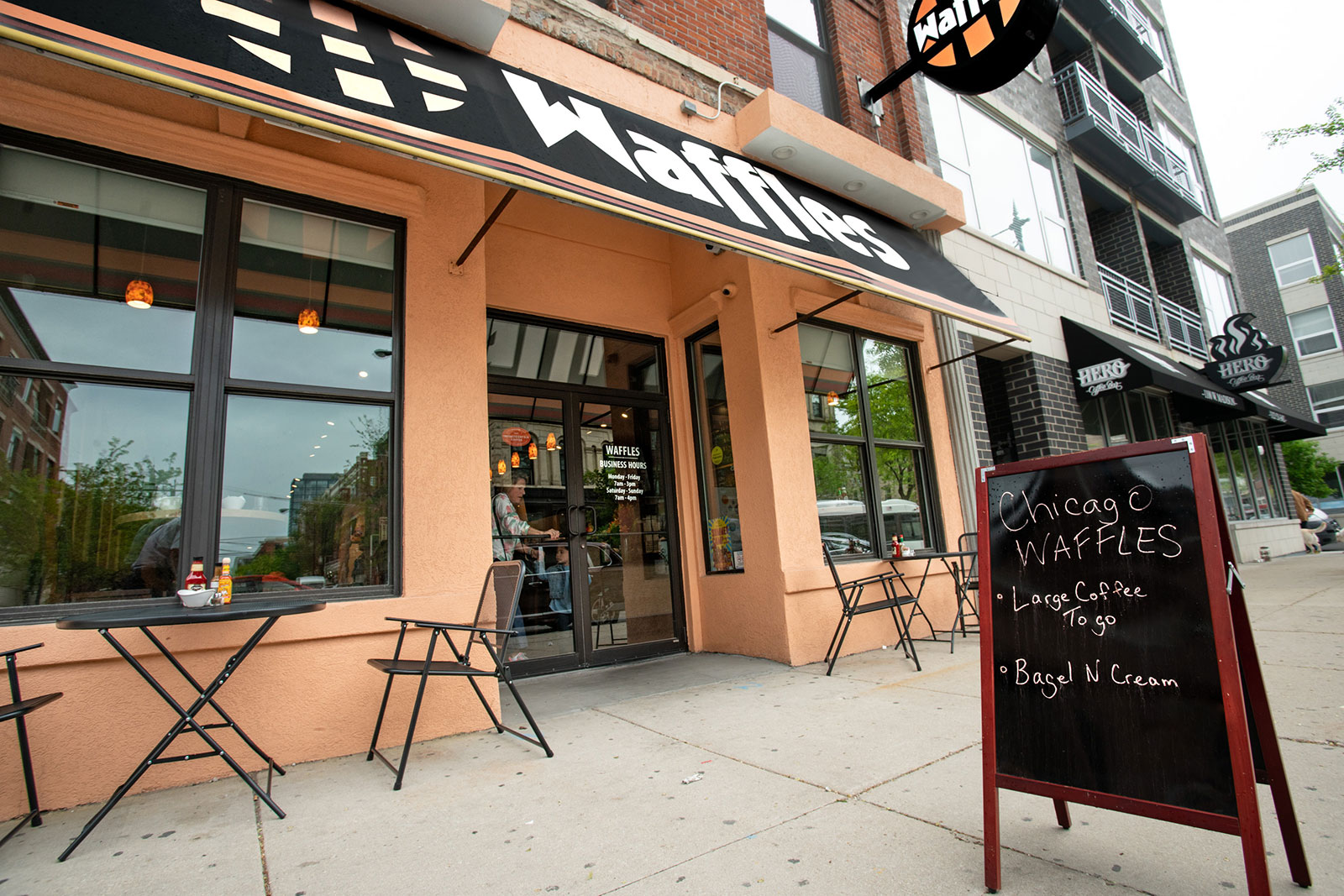 Photo of the West Loop location of Chicago Waffles